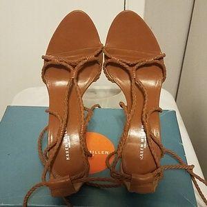 Karen Millen Tan Sandal - Wrap Around Ankle